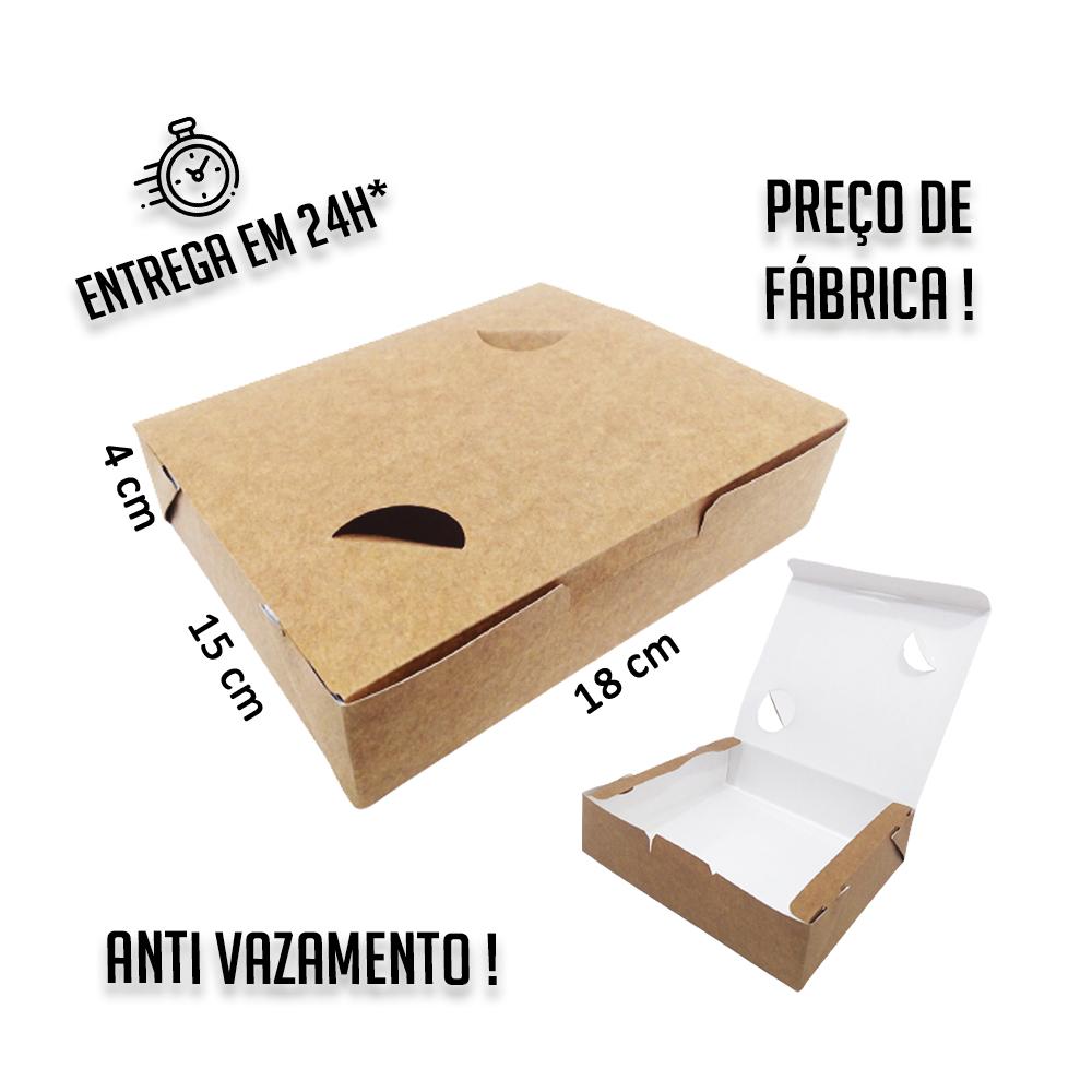 Caixa Anti Vazamento 4x18x15 cm (AxLxP) - pacote com 100 unidades