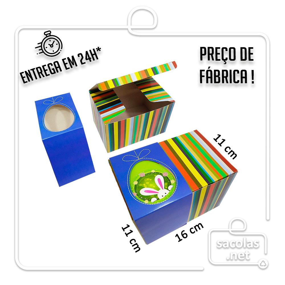 Caixa cartucho Páscoa 11 x 16 x 11 cm (AxLxP) - pacote com 5 unidades