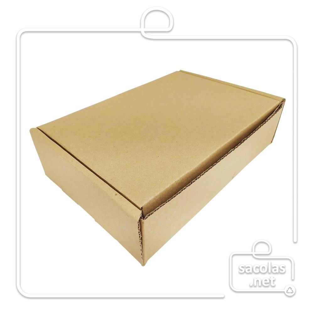 Caixa E-commerce 26,5x18x7cm (LxPxA) pacote com 20 unidades