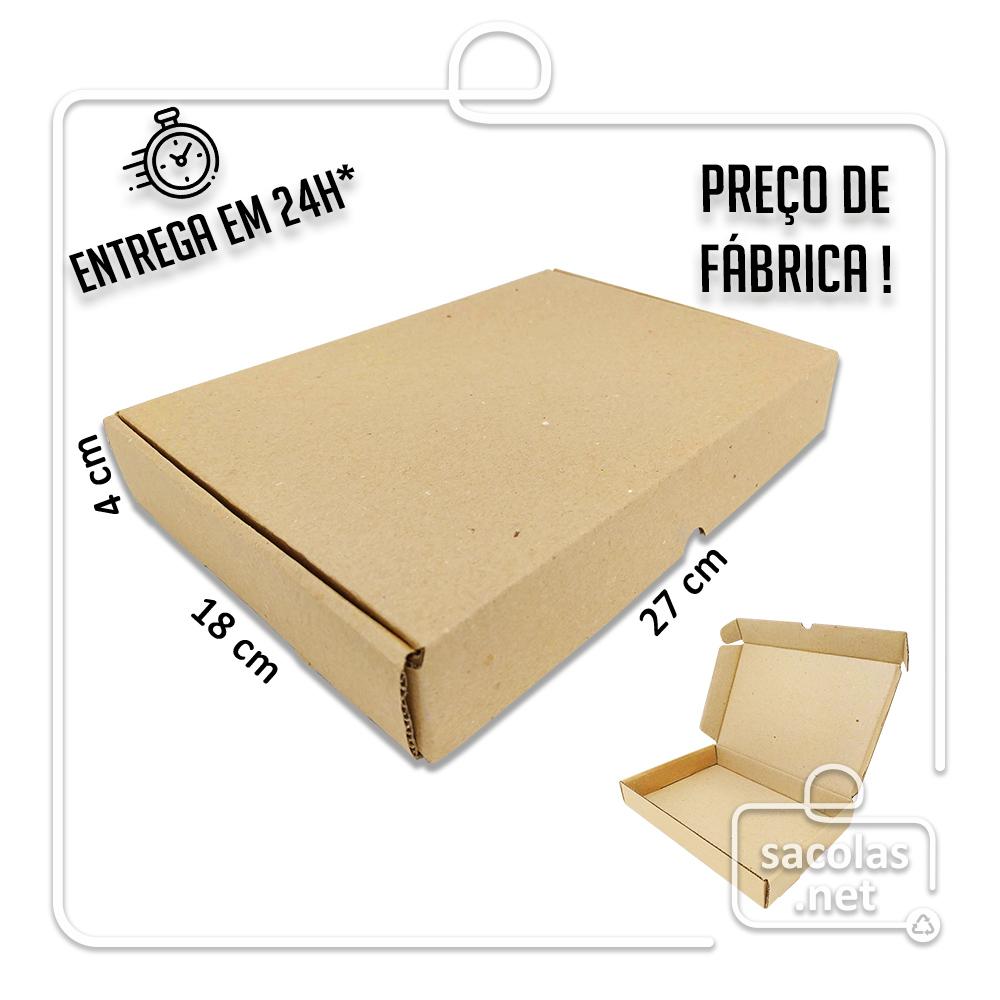 Caixa E-commerce 27x18x4cm (LxPxA) pacote com 20 unidades