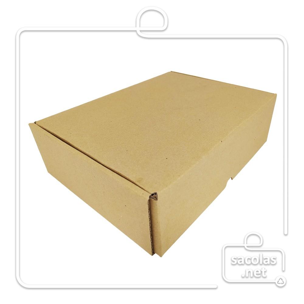 Caixa E-commerce 32x22,5x9cm (LxPxA) pacote com 20 unidades