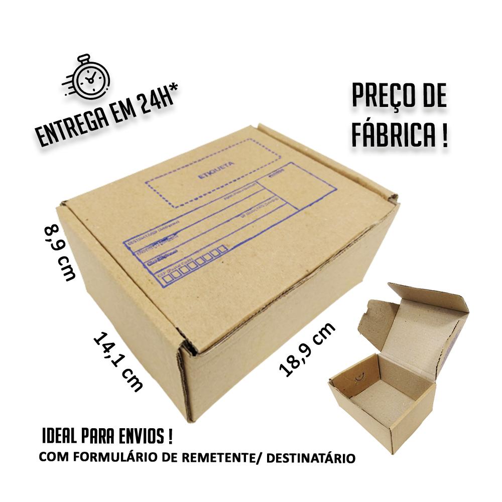 Caixa E-commerce Papelão IP 18,9x14,1x8,9cm (LxPxA) 1 unidade