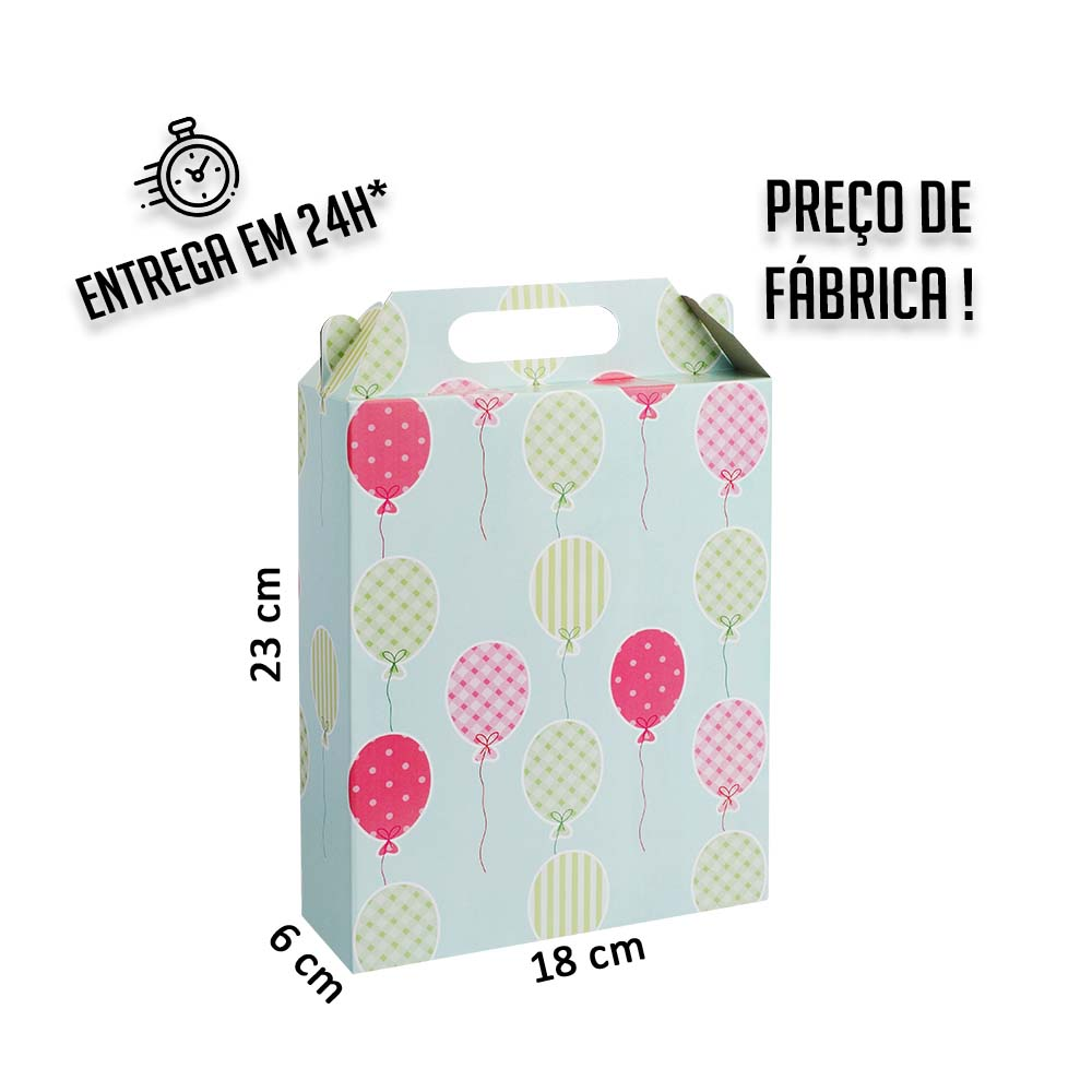 Caixa LA Balões 23x18x6 cm (AxLxP) - pacote com 1 unidade