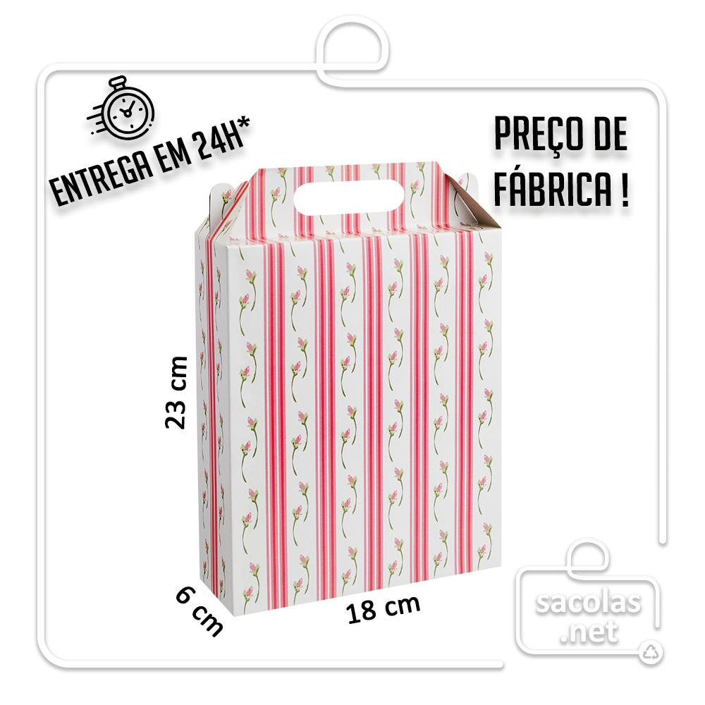 Caixa LA Flor 23x18x6 cm (AxLxP) - pacote com 5 unidades
