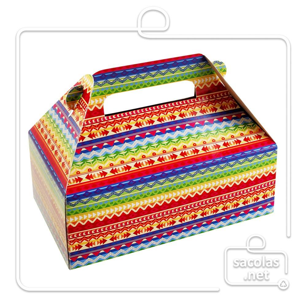 Caixa Lancheira Fantasia 7 x 19 x 13 cm (AxLxP) - pacote com 5 unidades