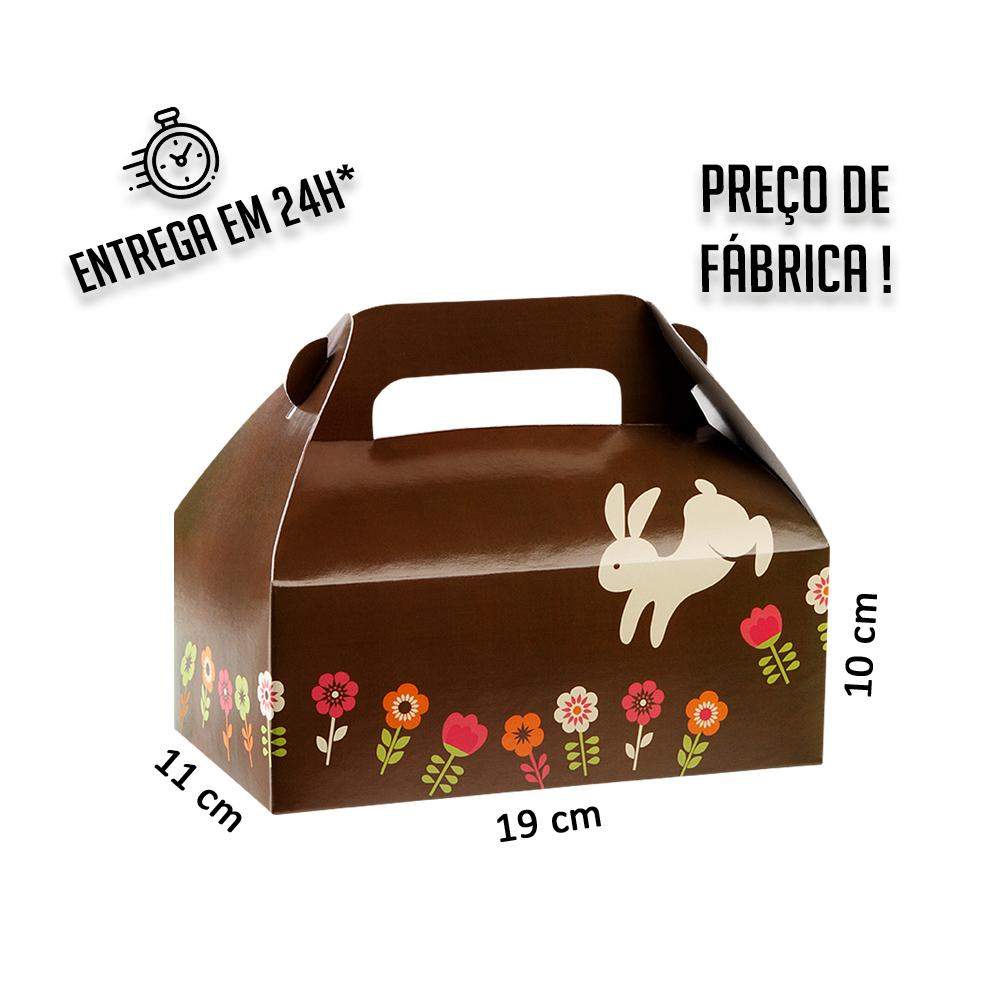 Caixa Lancheira Páscoa 10 x 19 x 11 cm (AxLxP) - pacote com 5 unidades