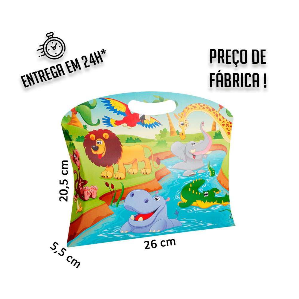 Caixa Maleta P Zoo 20,5x26x5,5 cm (AxLxP) - pacote com 1 unidade