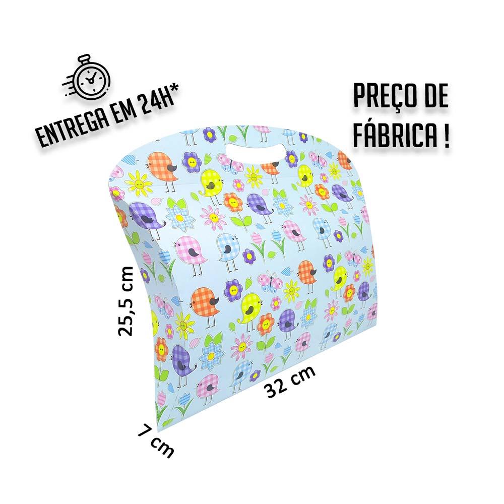 Caixa Maleta Primavera 25,5x32x7 cm (AxLxP) - pacote com 1 unidade