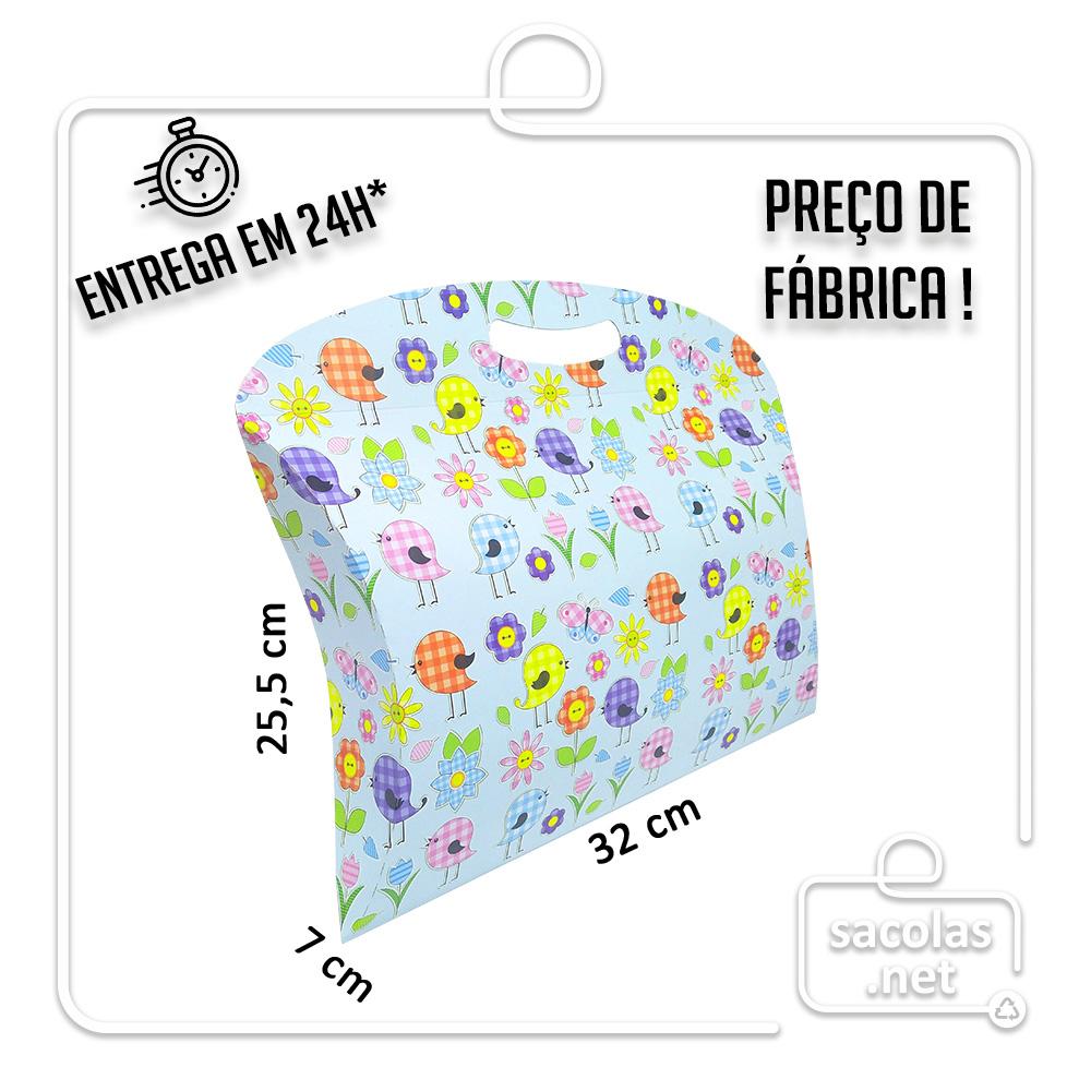 Caixa Maleta Primavera 25,5 x 32 x 7 cm (AxLxP) - pacote com 5 unidades