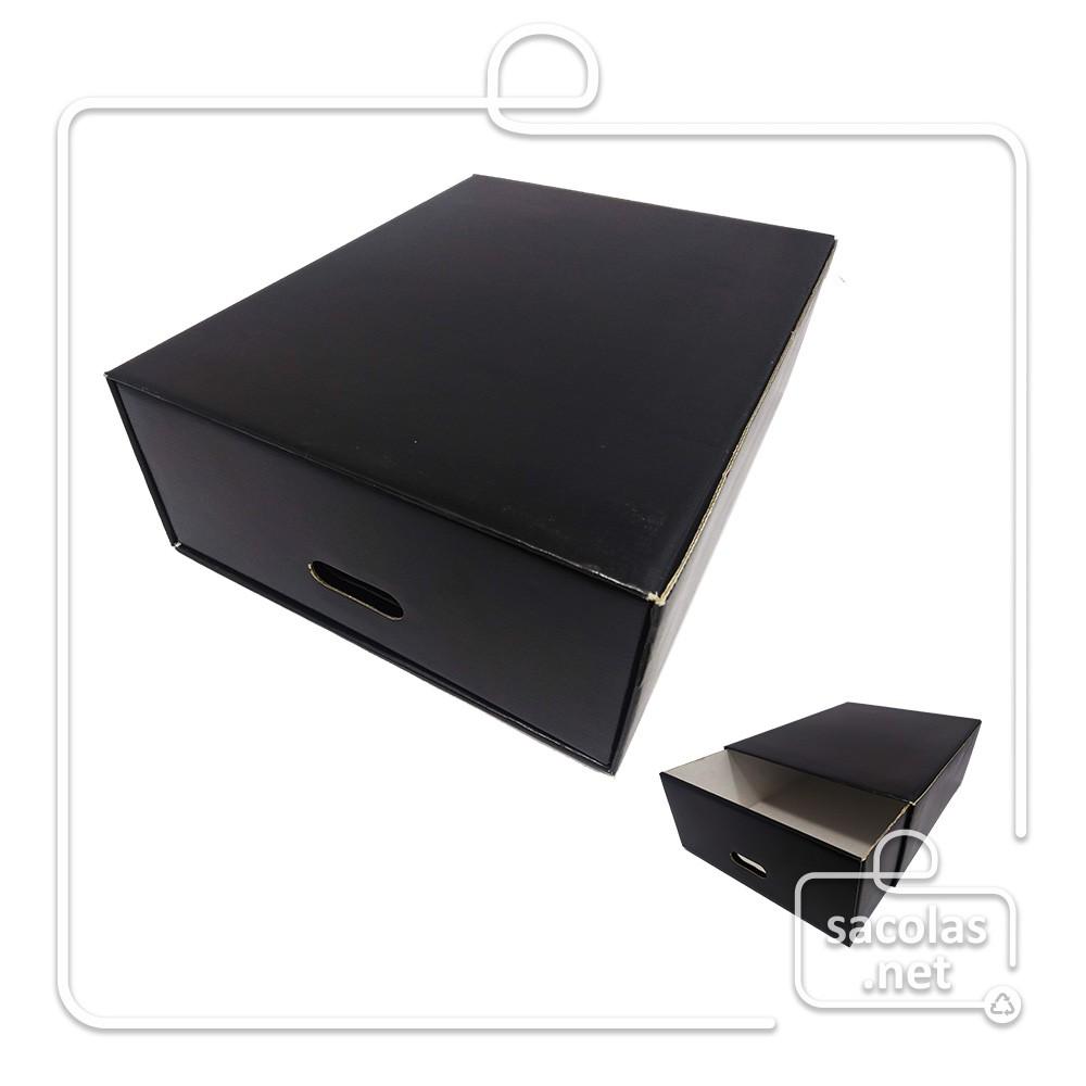 Caixa Organizadora 38 x 30 x 13 cm - pacote com 5 unidades