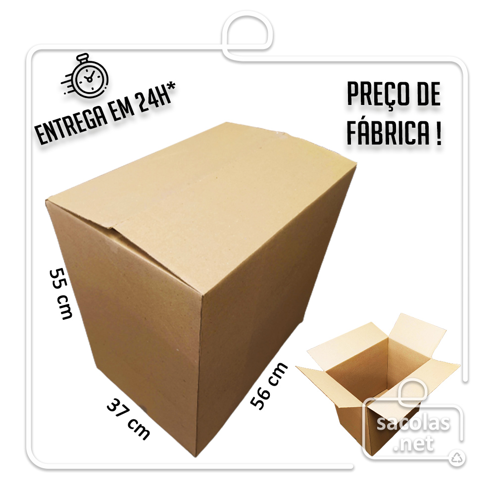 Caixa Papelão Transporte IP 55x37x56cm (LxPxA) 1 unidade