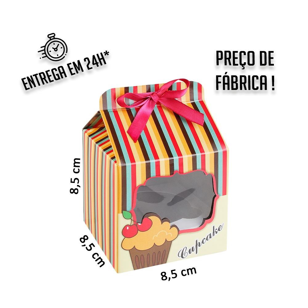 Caixa para 1 Cupcake 8,5x8,5x8,5 cm (AxLxP) - pacote com 1 unidade