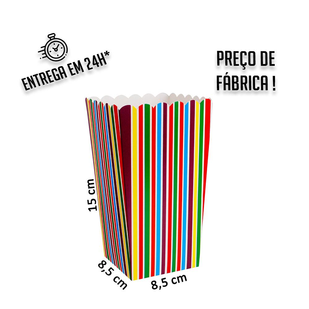 Caixa para porção 15x8,5x8,5 cm (AxLxP) - pacote com 1 unidade
