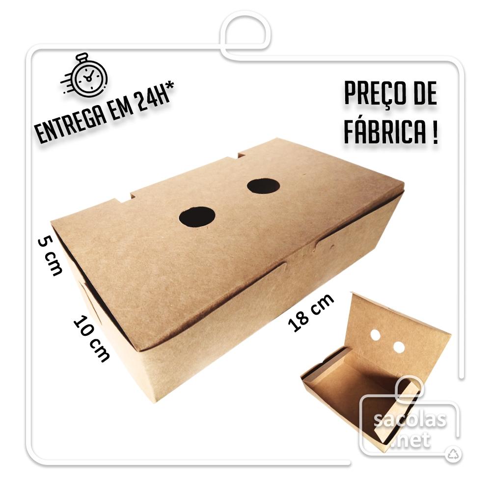 Caixa para Porção G 5x18x10 cm (AxLxP) - pacote com 100 unidades