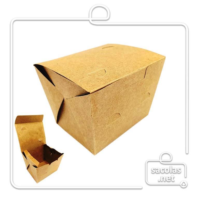 Caixa para Porção P  8x11,5x9 cm (AxLxP) - pacote com 100 unidades