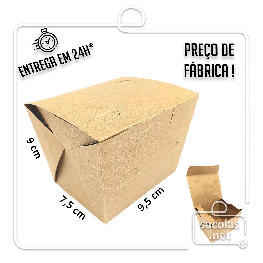 Caixa para Porção P  8x9,5x9 cm (AxLxP) - pacote com 100 unidades