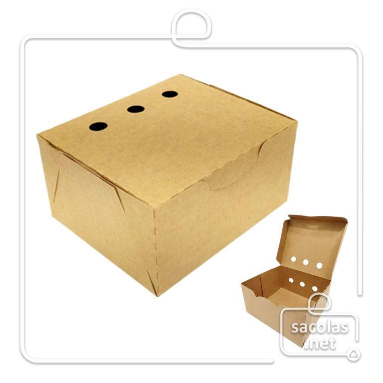 Caixa para Porções 6x11,6x10 cm (AxLxP) - pacote com 100 unidades