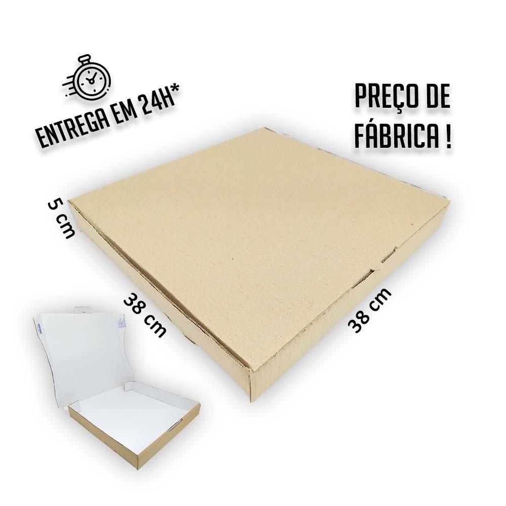 Caixa para Salgados, Doces e Pizza 38x38x5cm - Pacote com 25 unidades