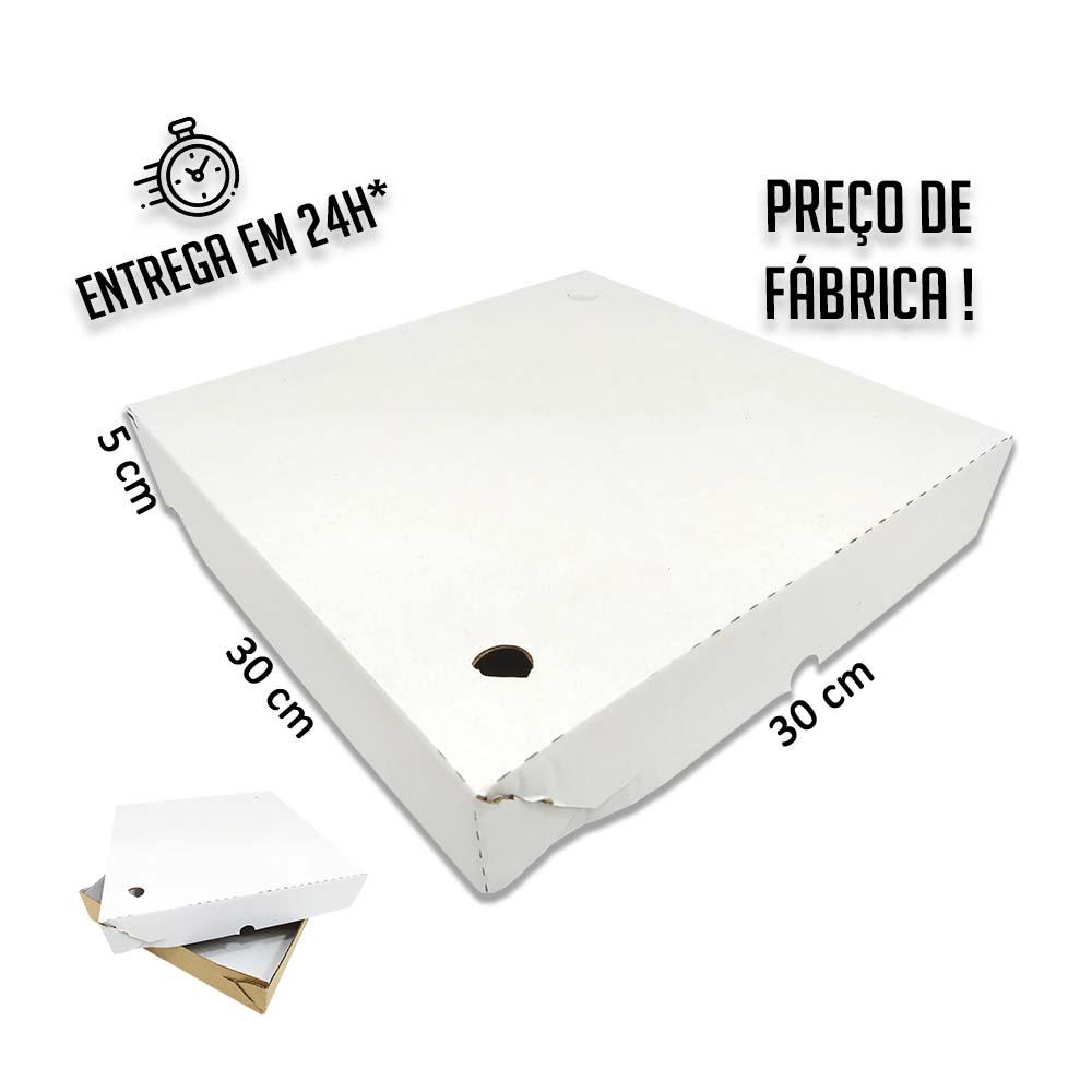 Caixa para Salgados, Esfihas e Doces 30x30x5cm - Pacote com 25 unidades