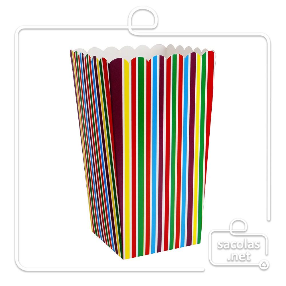 Balde estampa listras 15 x 8,5 x 8,5 cm (AxLxP) - pacote com 5 unidades