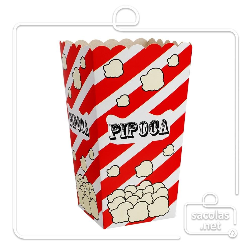 Balde pipoca tradicional15 x 8,5 x 8,5 cm (AxLxP) - pacote com 5 unidades