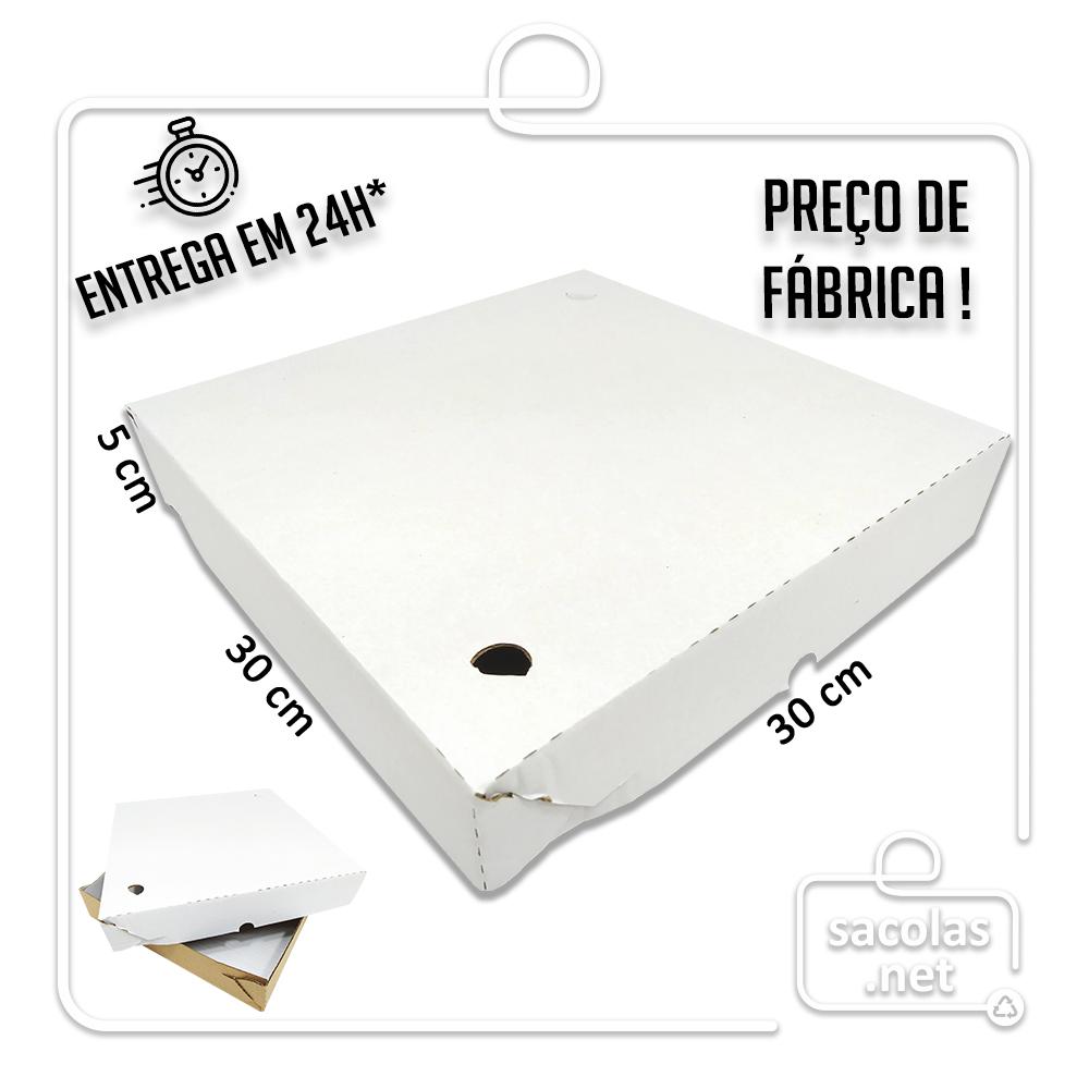 Caixa Salgados 30x30x5cm - Pacote com 25 unidades