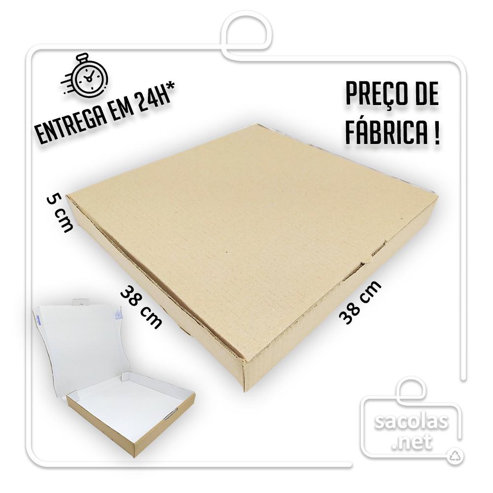 Caixa Salgados e Pizza 38x38x5cm - Pacote com 25 unidades