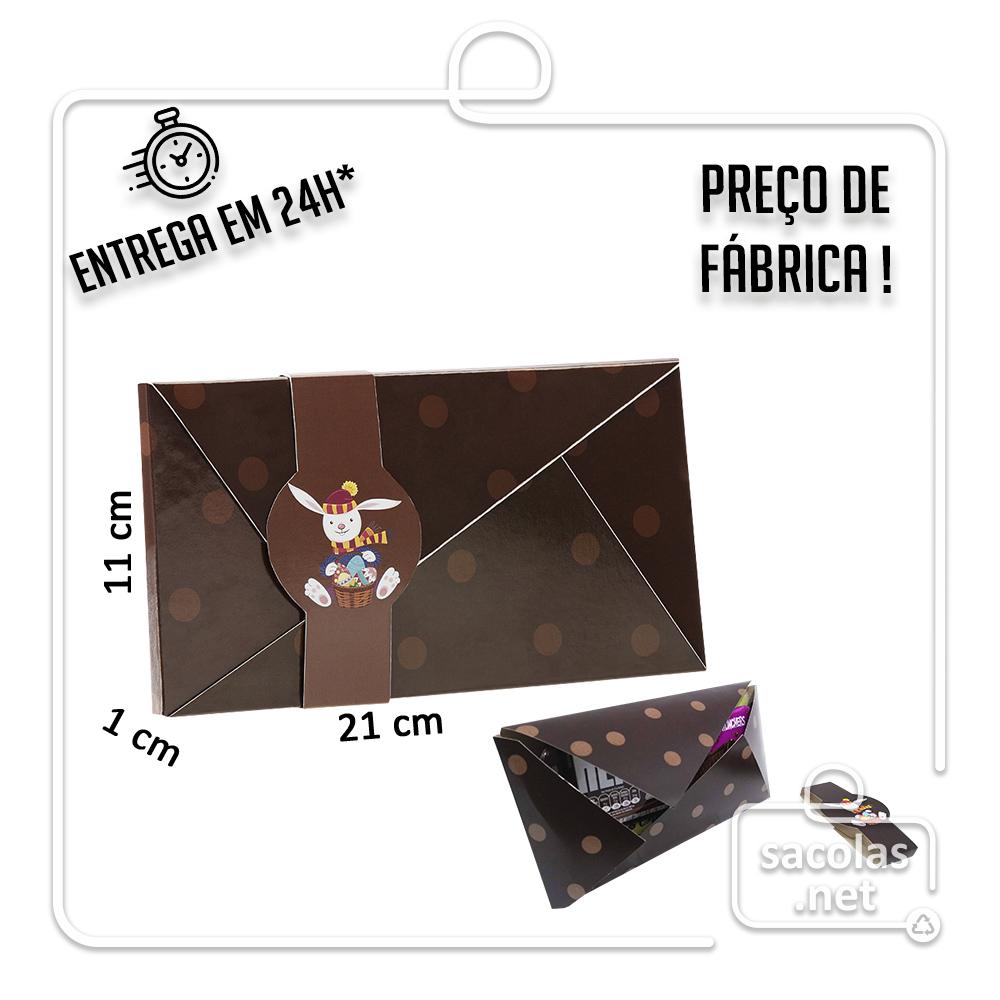 Envelope Chocolate 21 x 11 x 1 cm - pacote com 5 unidades