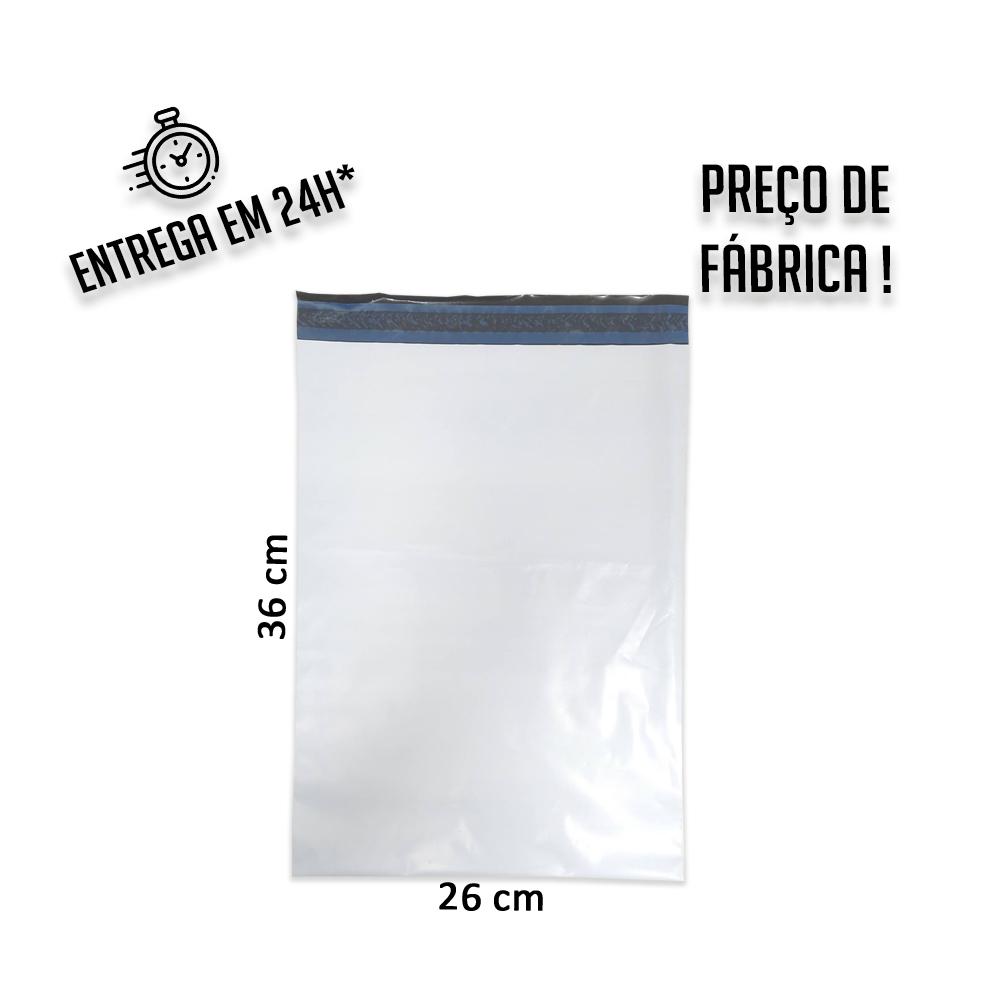 Envelope de Segurança E-commerce 26x36 cm (LxA) pacote com 50 unidades