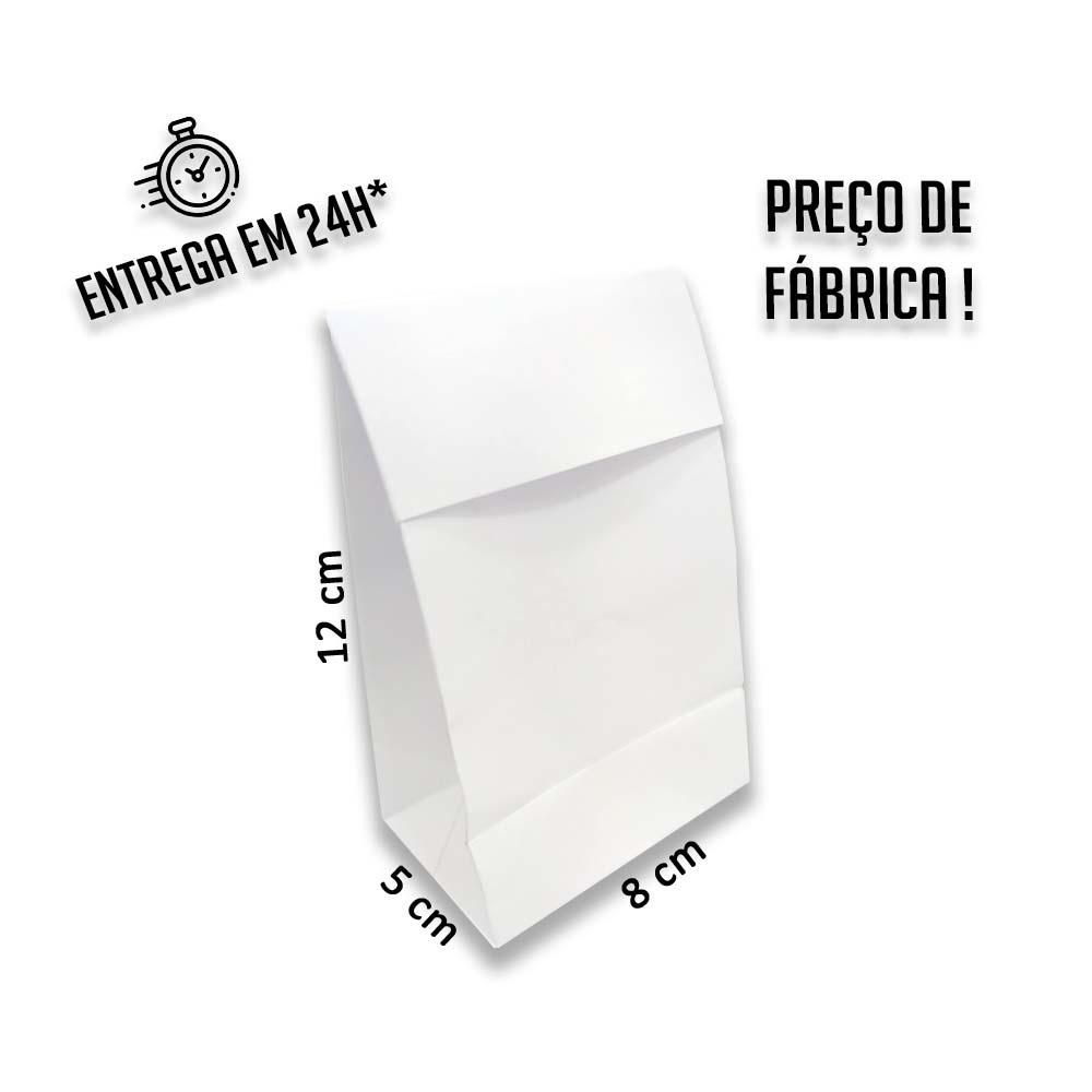 Envelope para Jóias Branco 12x8x5 cm (AxLxP) - pacote com 100 unidades