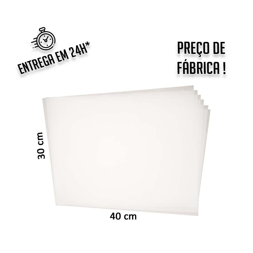 Papel Anti Gordura Branco 30x40 cm (papel manteiga) - pacote com 200 folhas