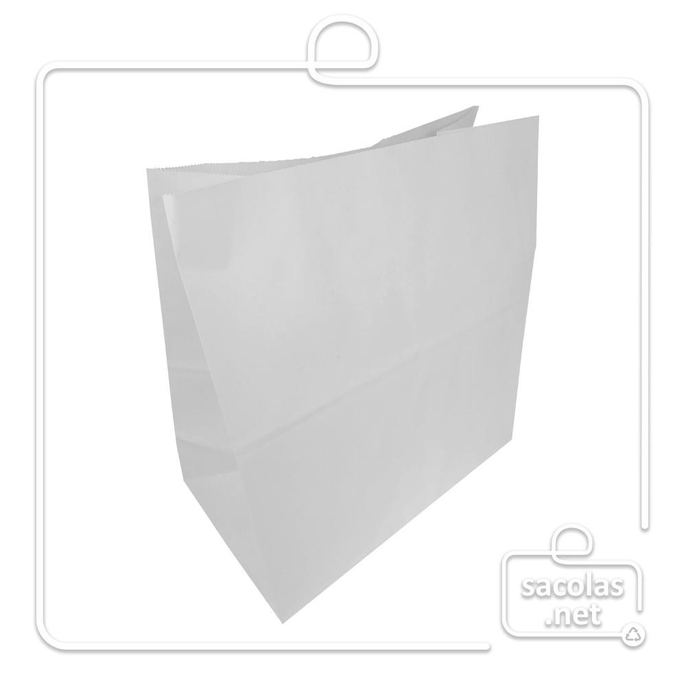 Saco Branco Delivery 38x30x19 cm (AxLxP) - pacote com 100 unidades
