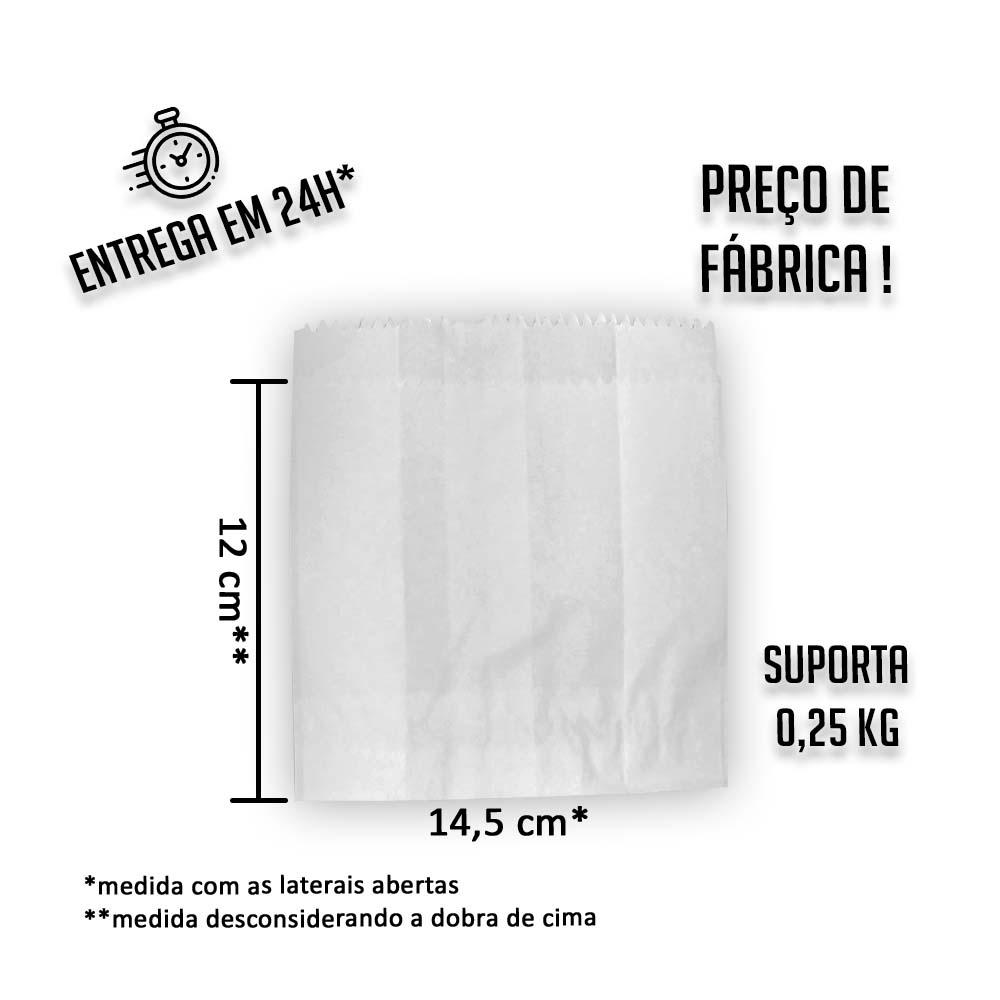 Saco (Saquinho) Barreira Branco H1 12x14,5 cm (AxL) - pacote com 500 unidades