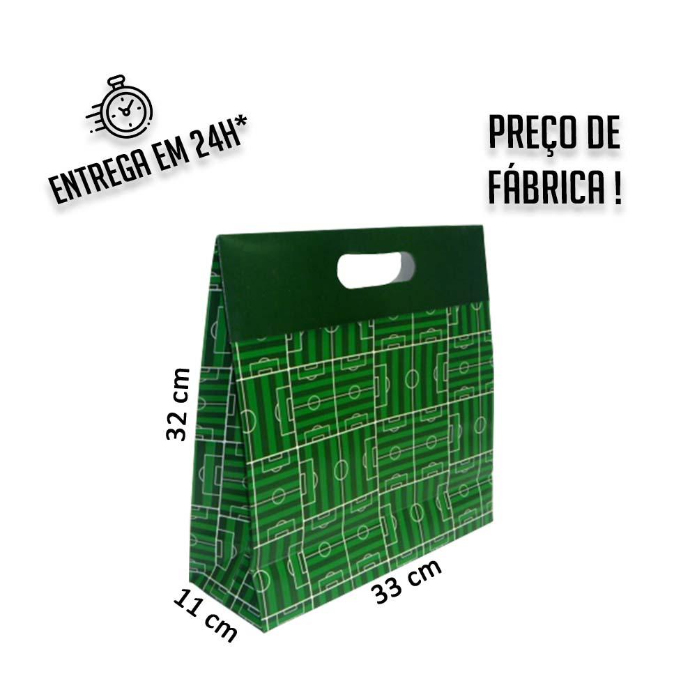 Sacola Caixa Copa Campo G 32 x 33 x 11 cm (AxLxP) - pacote com 5 unidades