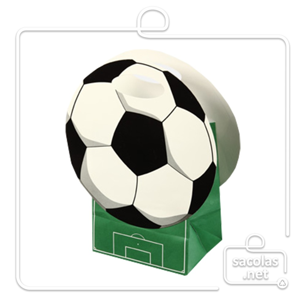 Sacola Kids Bola 33 x 10,5 x 10,5 cm (AxLxP) - pacote com 5 unidades
