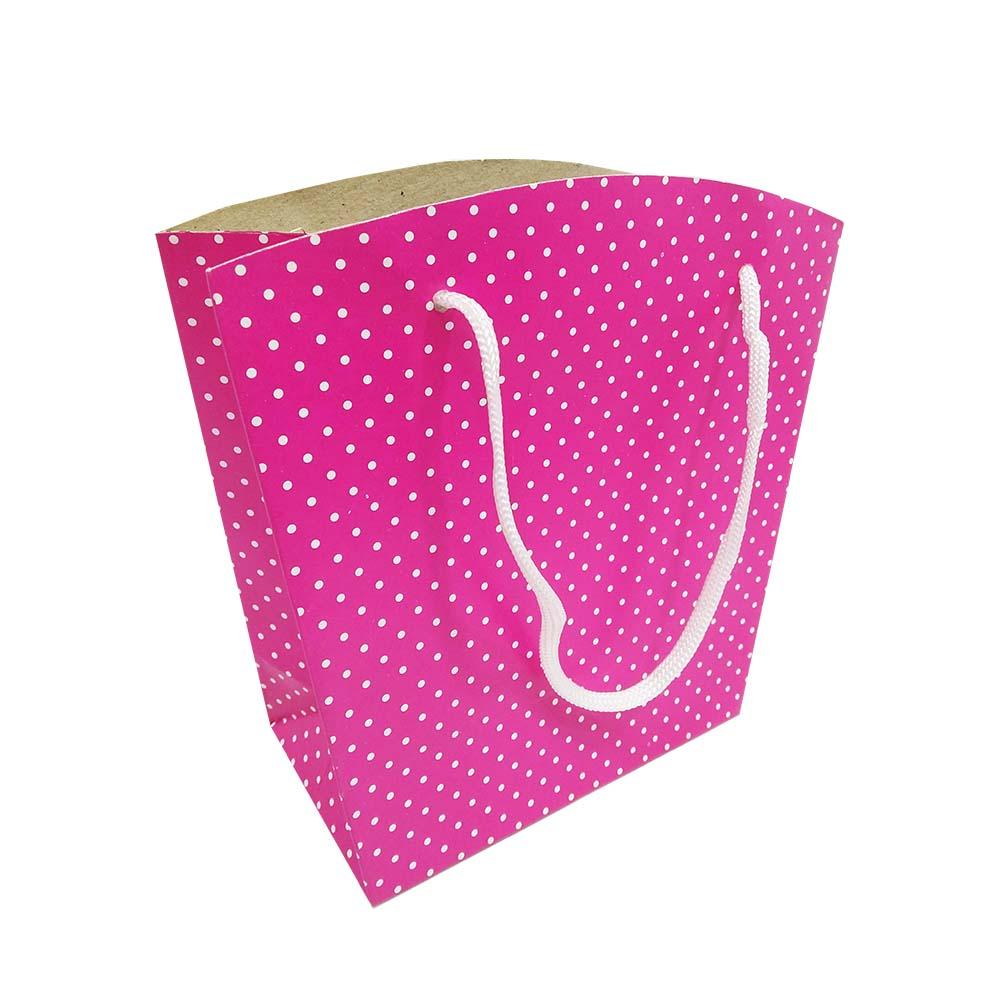 Sacola Pink 18,5x14,4x8 cm (AxLxP) - pacote com 1 unidade