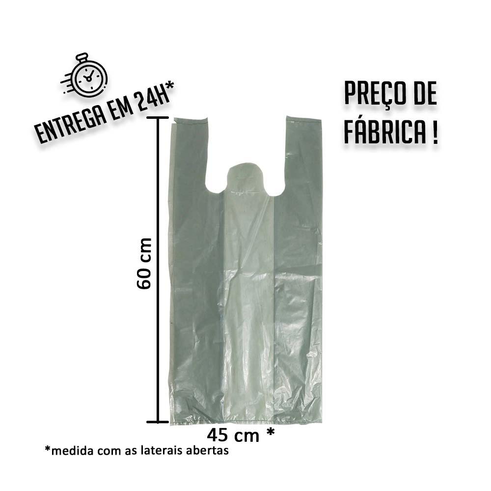 Sacola Plástica Colorida Verde 45x60cm - Pacote com 1 kg