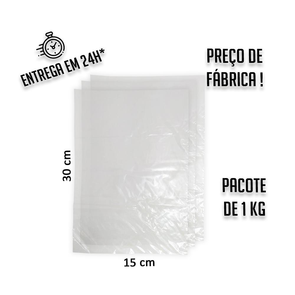 Saco Plástico Baixa 006 (R) 15x30cm - pacote com 1KG