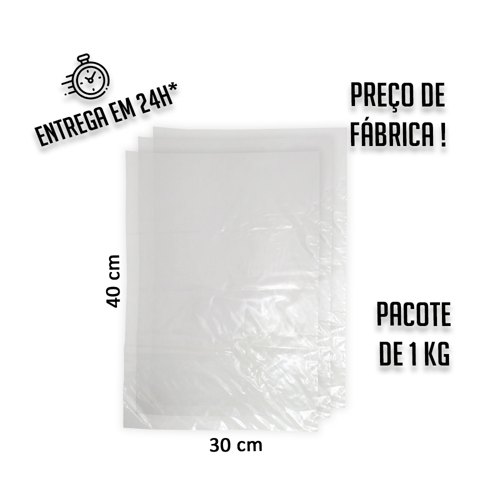 Saco Plástico Baixa 006 (R) 30x40cm - pacote com 1KG