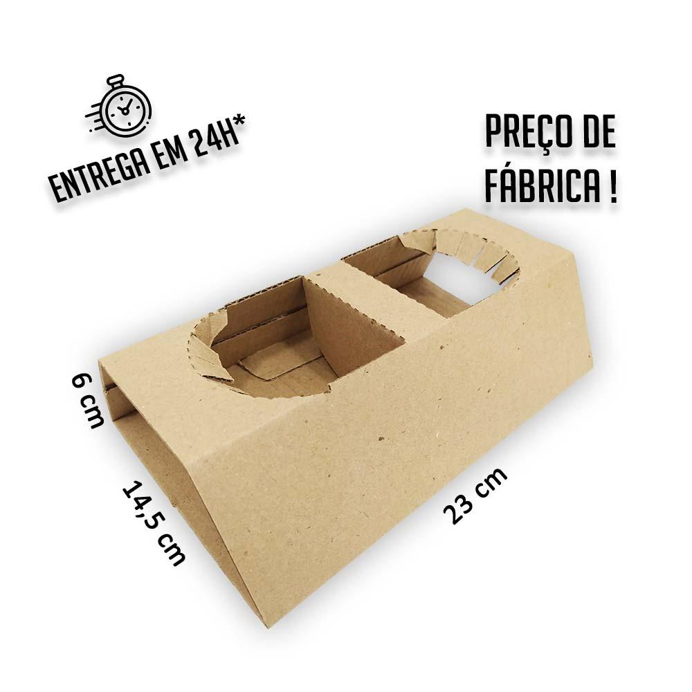Suporte para até 2 copos 14,5x23x6cm (porta copos) - Pacote com 25 unidades