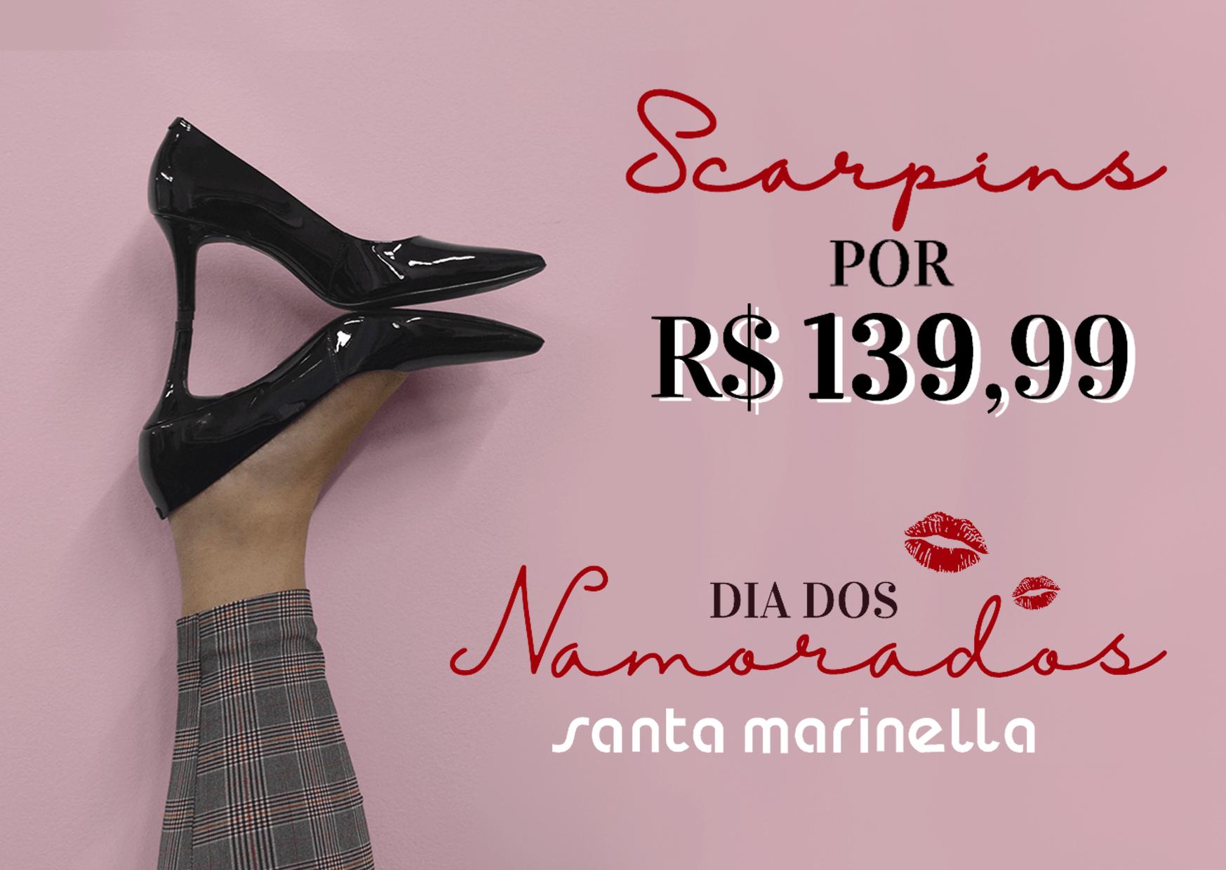 Scarpins por até R$139,99! Aproveite o Desconto! Dia dos Namorados!