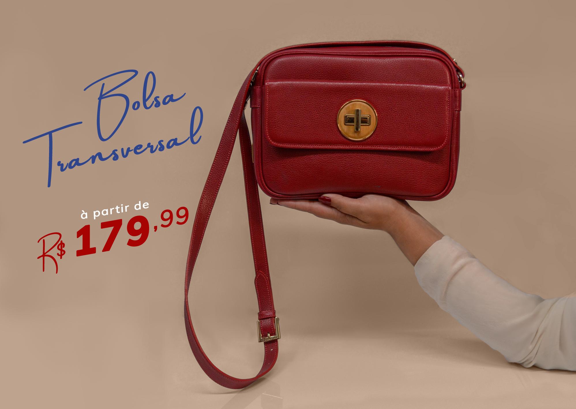 Bolsas Transversais à partir de R$179,99