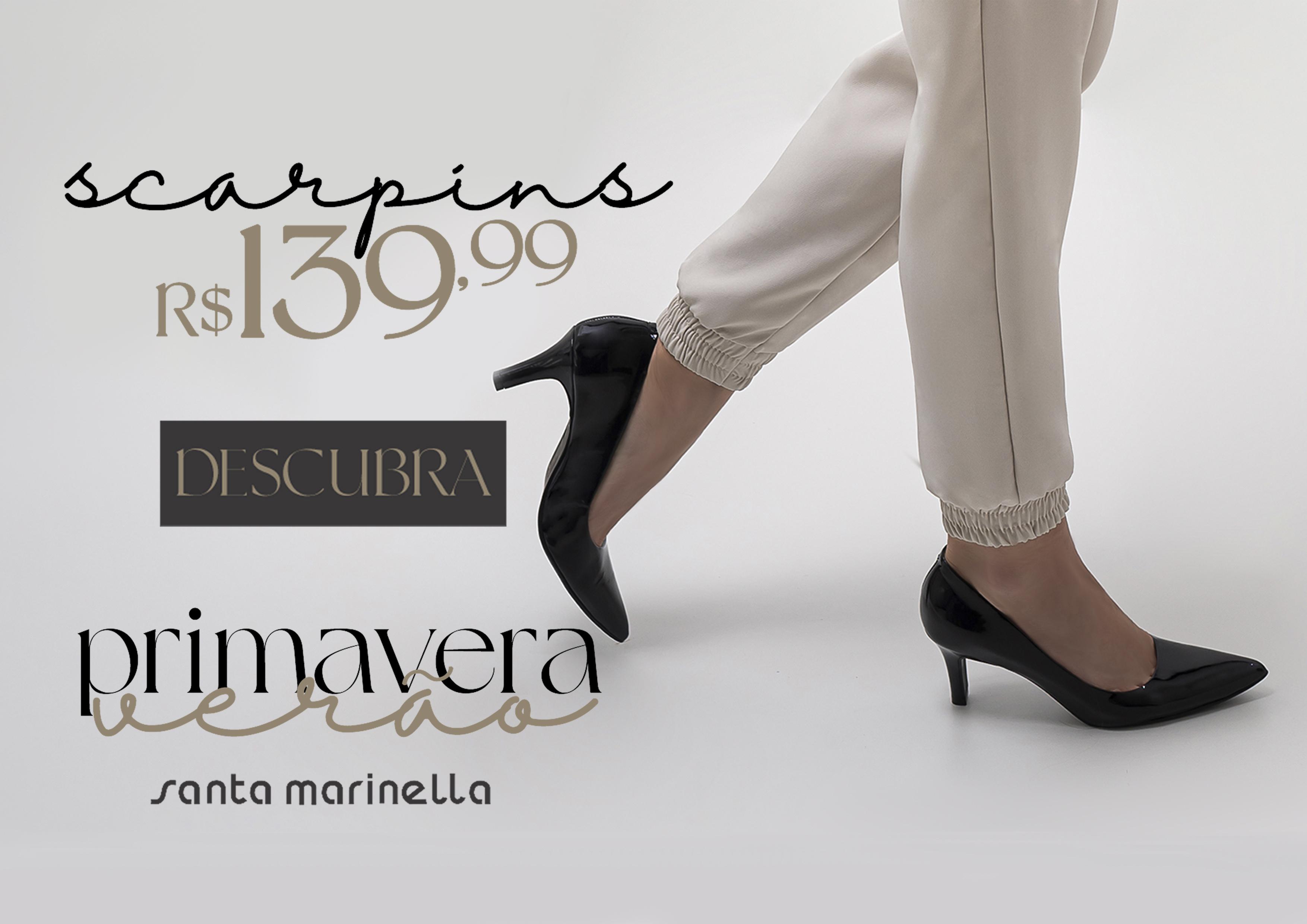 Primavera - verão 22 Scarpins por R$139,99 | Santa Marinella