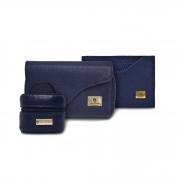 KIT de Acessórios femininos - Carteira C305, Porta Níquel C220 e Porta Cartão C352 - Couro Floater
