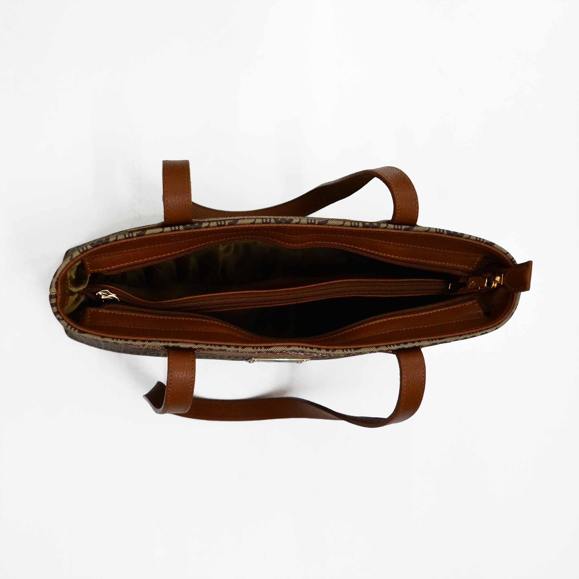 Bolsa de Ombro SM 2485 - Monograma Couro