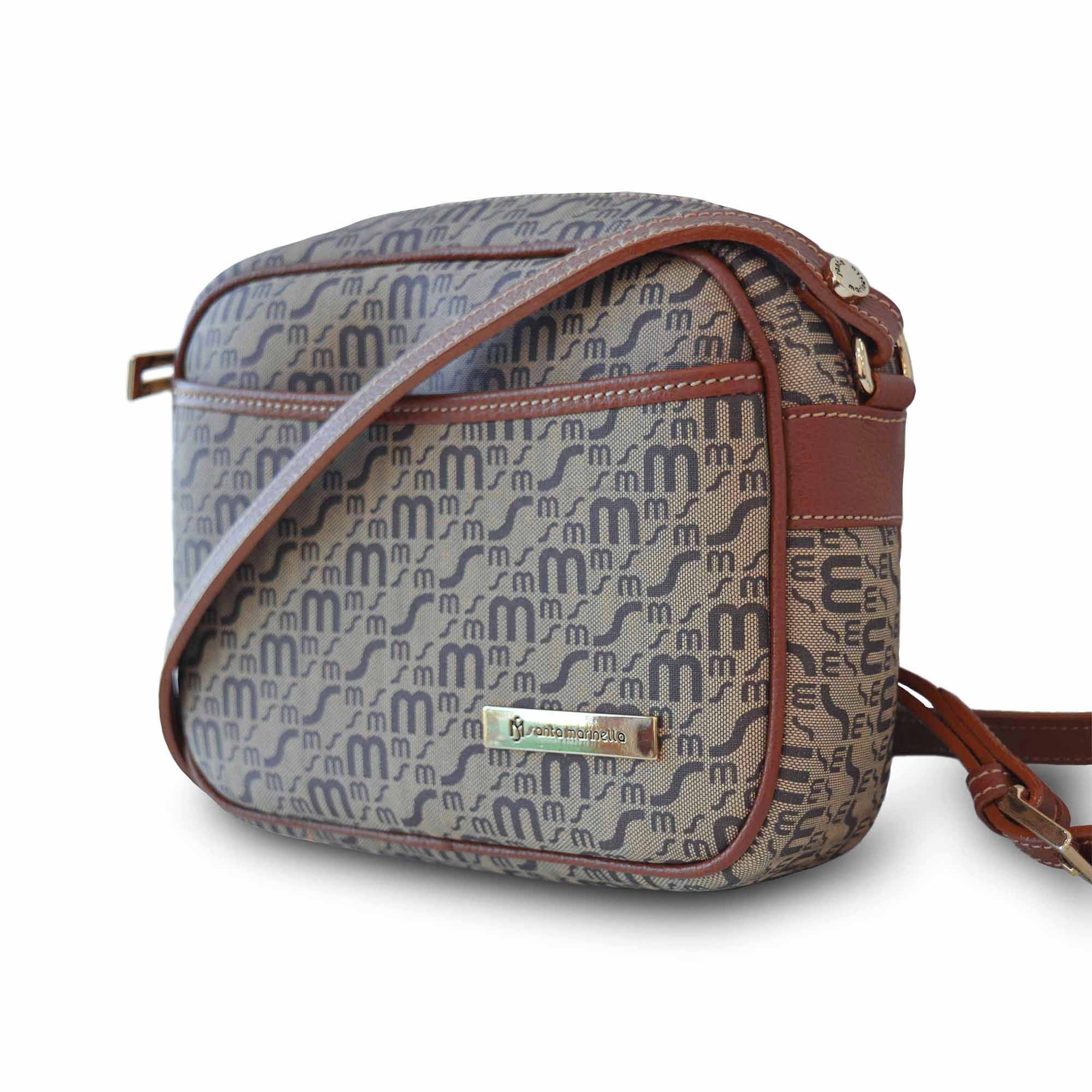 Bolsa Transversal SM 1291 - Monograma Couro