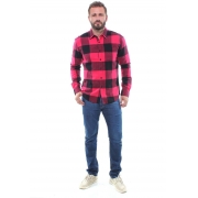 Camisa Xadrez Masculina Flanelada Manga Longa Crocker - 47397