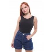 Short Jeans Feminino Curto Assimétrico Crocker - 47924