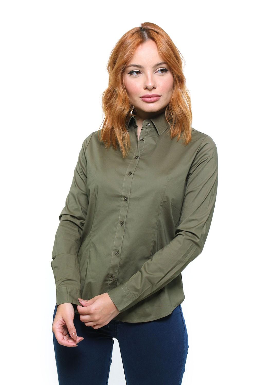 Camisa Fit Feminina Manga Longa - 45227