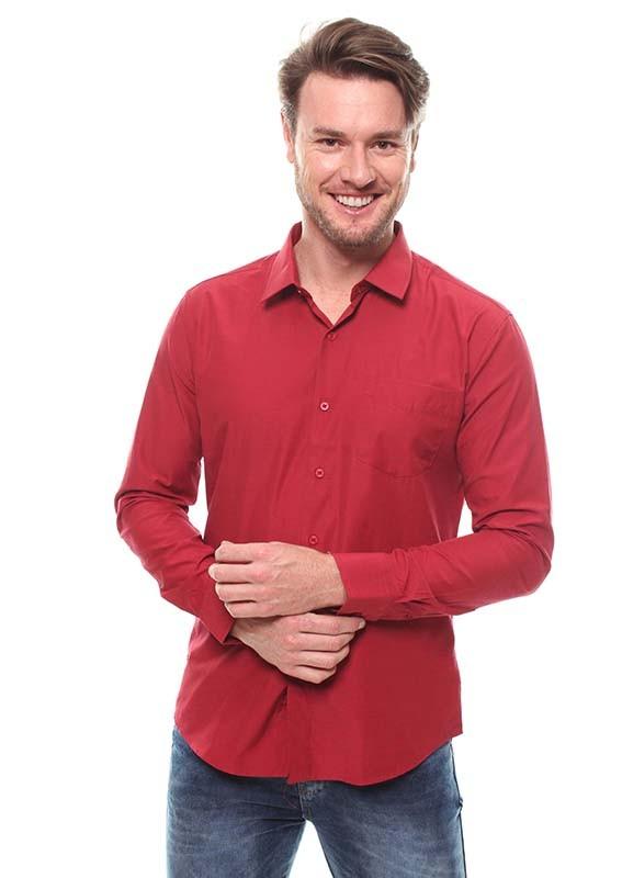 Camisa Fit Masculina Manga Longa - 45649